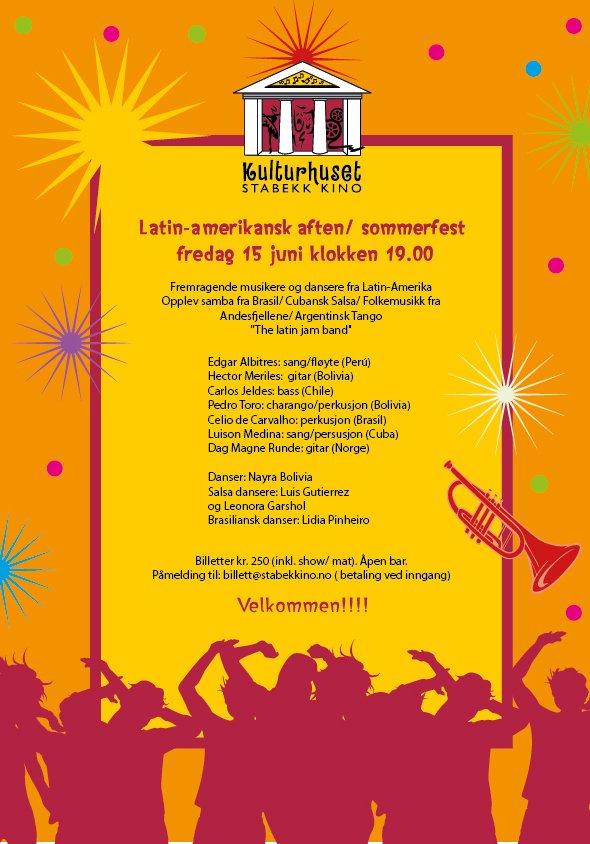 Print Plakat Latinamerikansk aften i Kulturhuset Stabekk Kino