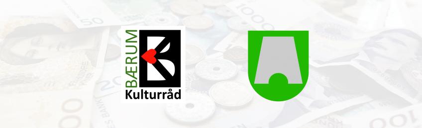 Kulturmidler illustrasjon med logo til Bærum Kulturråd og Bærum kommune (banner)