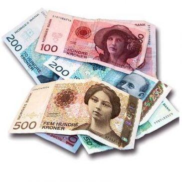 Tilskudd til kulturformål (illustrasjon pengesedler)