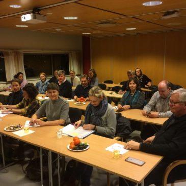 """Deltakere på informasjonsmøte om """"Tilskudd til kulturformål"""" 2. februar 2016 - Arrangører Bærum kommune og Bærum Kulturråd"""