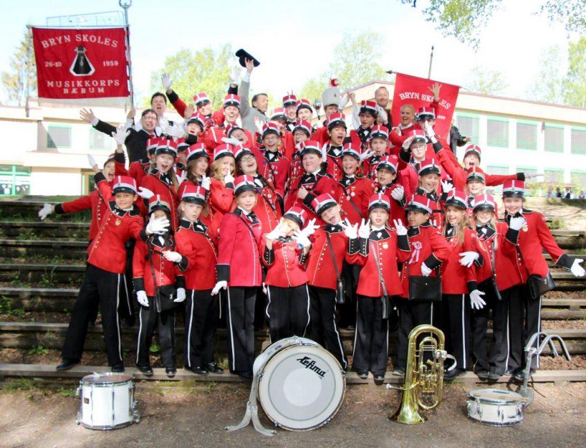 Bryn Skoles Musikkorps 17. mai 2016