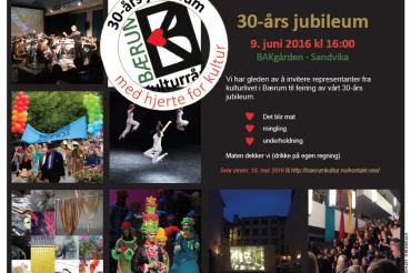 Invitasjon til feiring av Bærum Kulturråds 30-års jubileum
